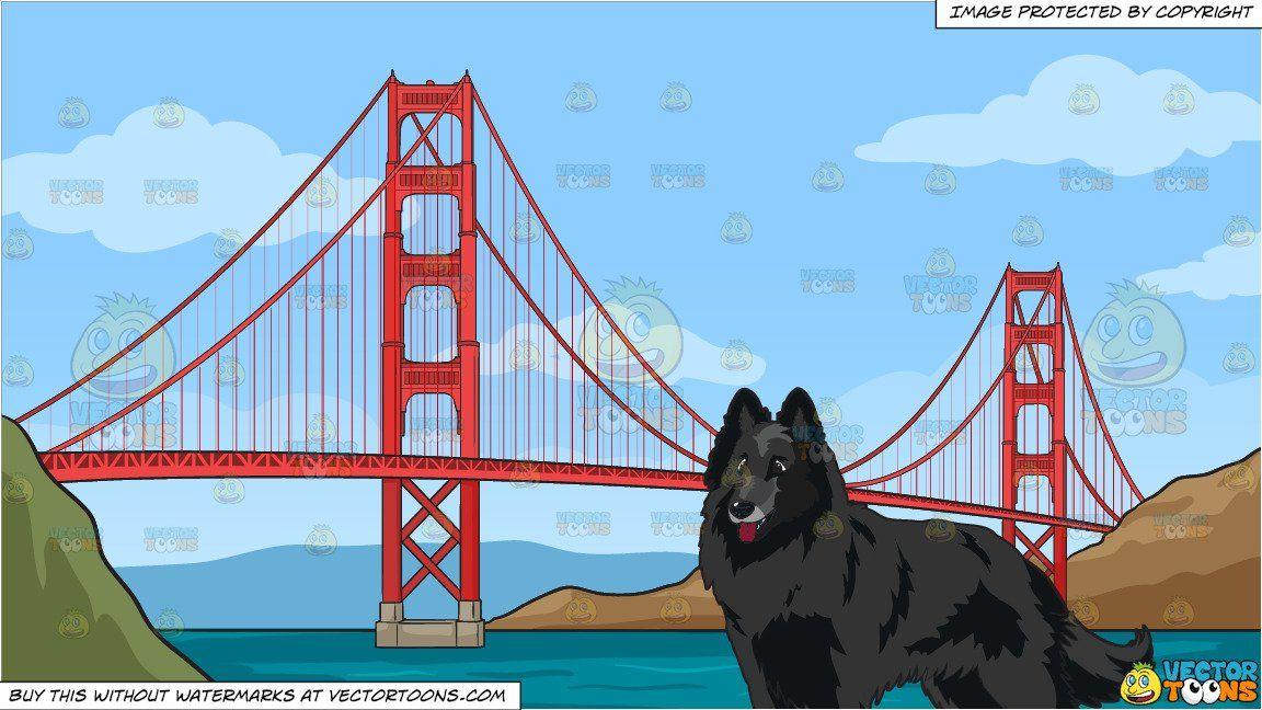 Cartoon a stunning black. Bridge clipart side view