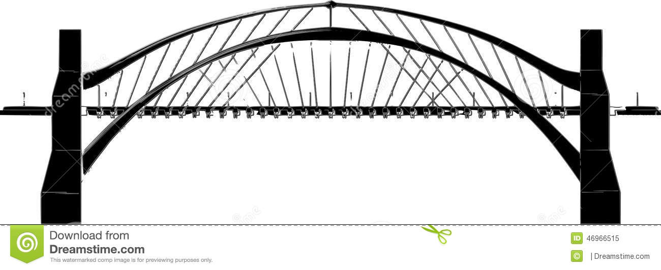 collection of drawing. Bridge clipart side view