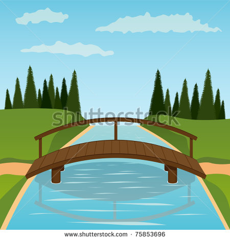 Bridge clipart side view.  collection of wooden