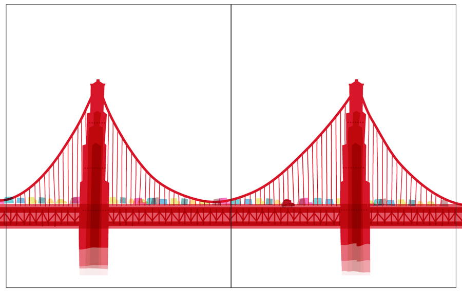 collection of golden. Bridge clipart side view