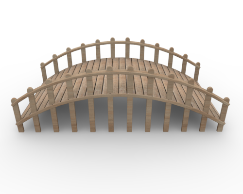 collection of wooden. Bridge clipart side view