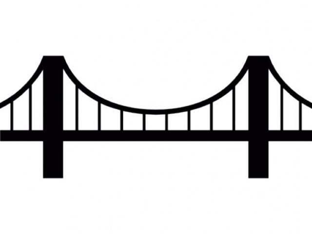 Bridge clipart side view. Free rope download clip