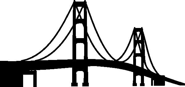 Mackinac svg file and. Bridge clipart silhouette