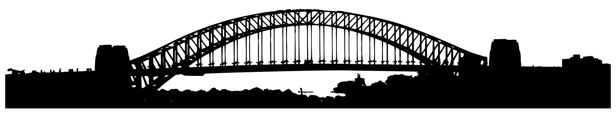 Sydney harbor design droide. Bridge clipart silhouette