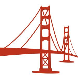 Golden gate at getdrawings. Bridge clipart silhouette