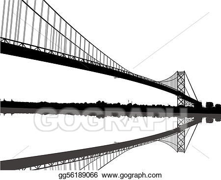 Bridge clipart silhouette. Vector ambassador illustration