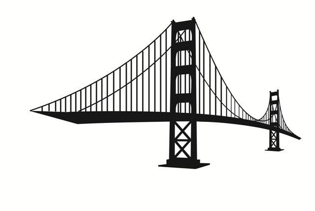 Bridge clipart silhouette.  collection of free