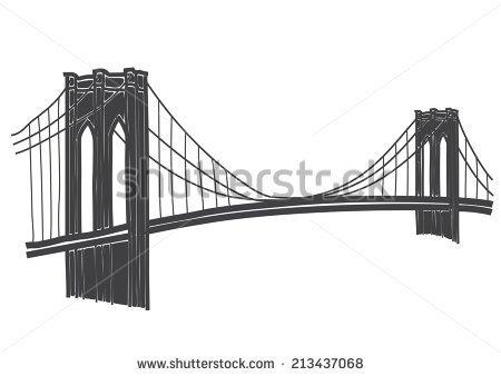 Brooklyn . Bridge clipart silhouette