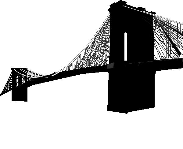 Bridge clipart silhouette. Brooklyn skyline at getdrawings