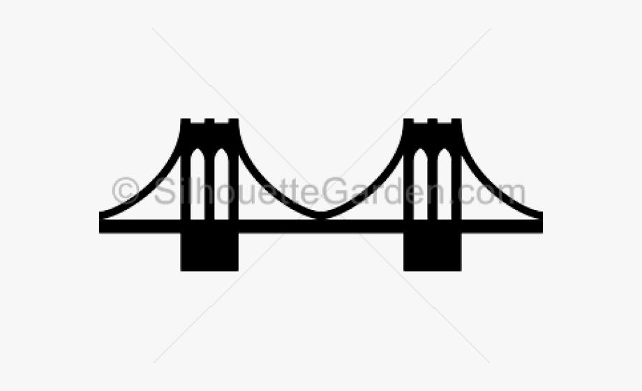 Rope cartoon brooklyn . Bridge clipart silhouette