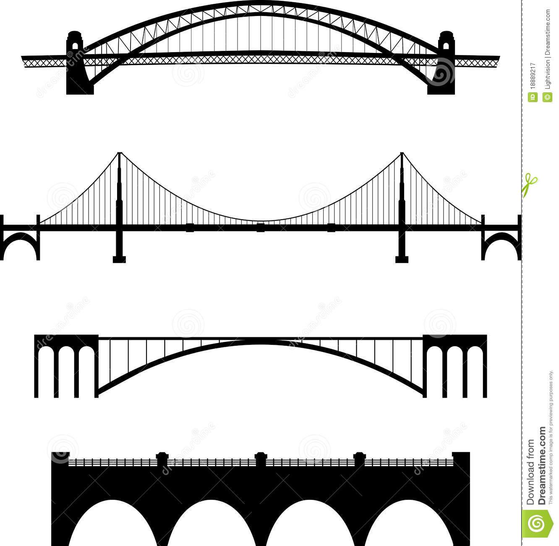 bridge clipart silhouette
