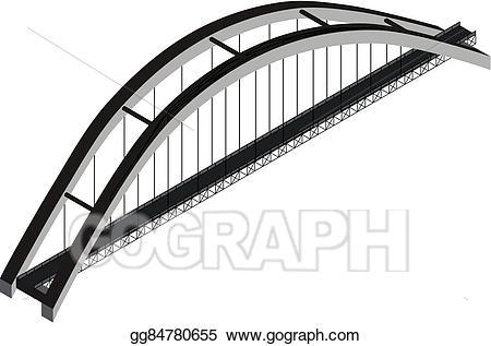Bridge clipart steel bridge. Eps illustration isometric arch