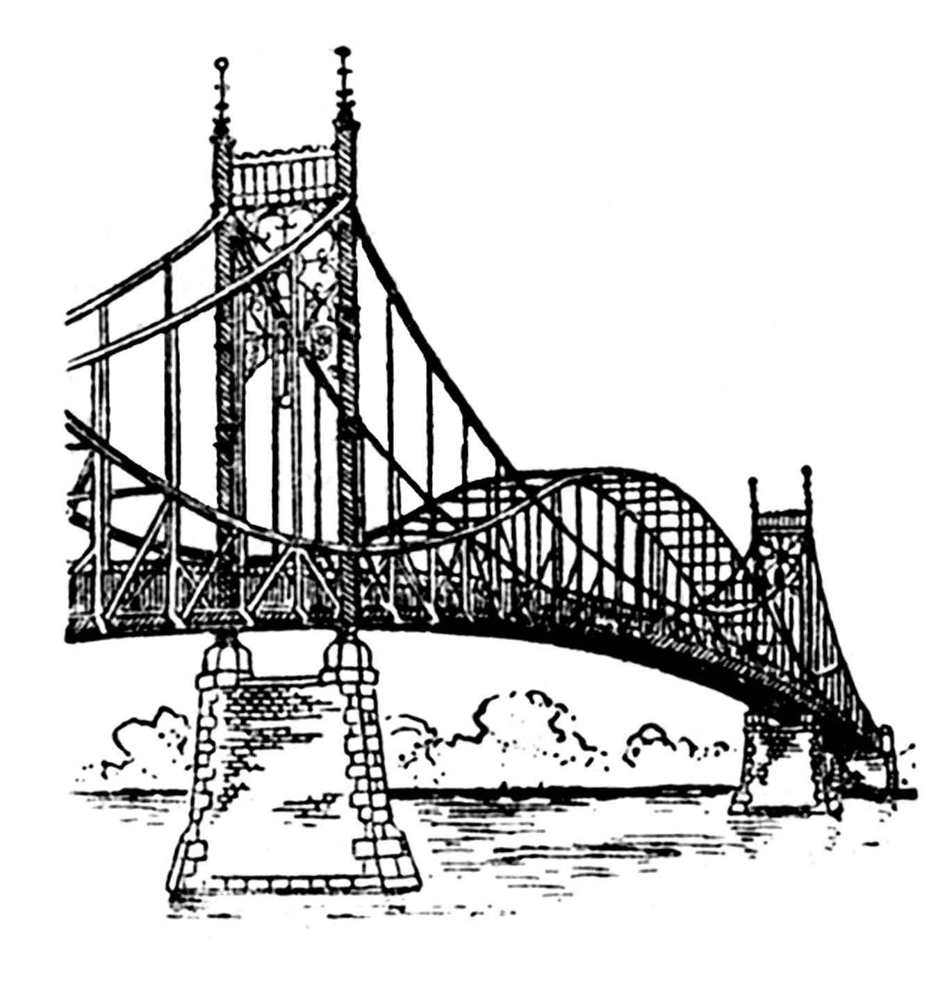 Clipground truss clip art. Bridge clipart steel bridge