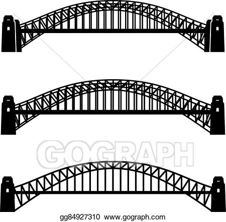 Bridge clipart steel bridge. Eps illustration metal sydney