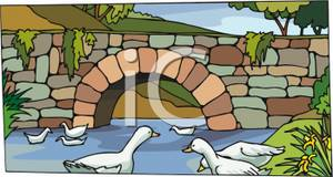 bridge clipart stone bridge
