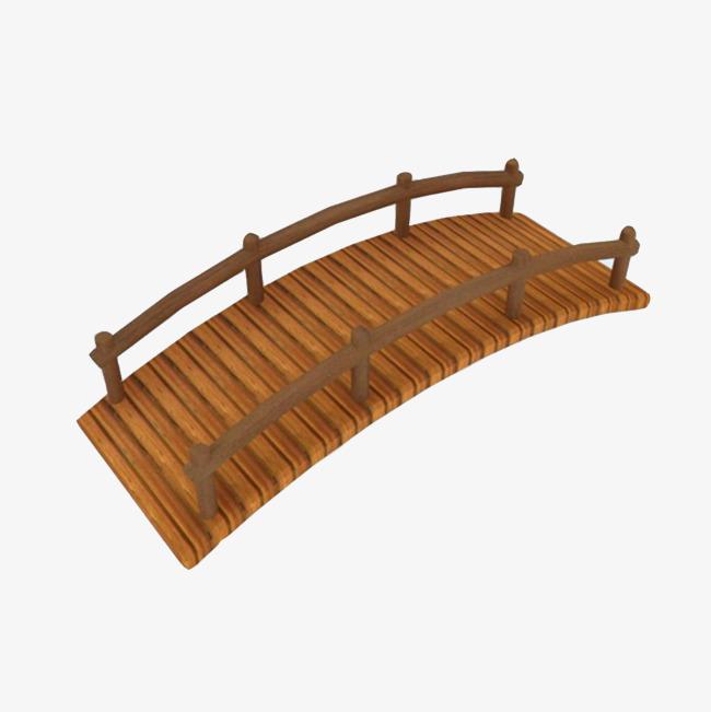 Bridge clipart structure.  d wooden garden