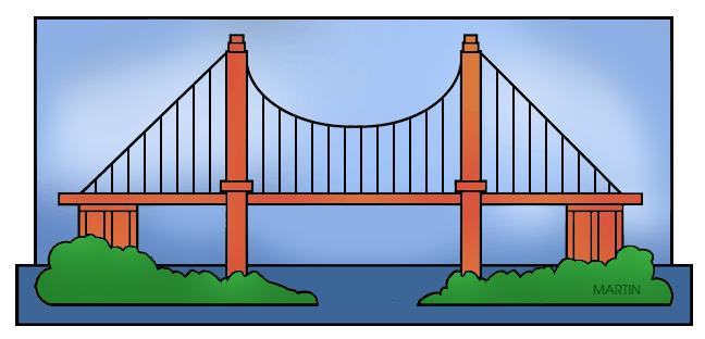 Architecture clip art by. Bridge clipart structure