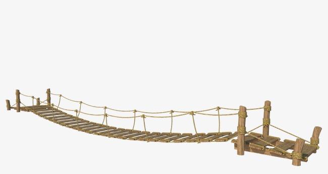 Wood natural png image. Bridge clipart suspension bridge