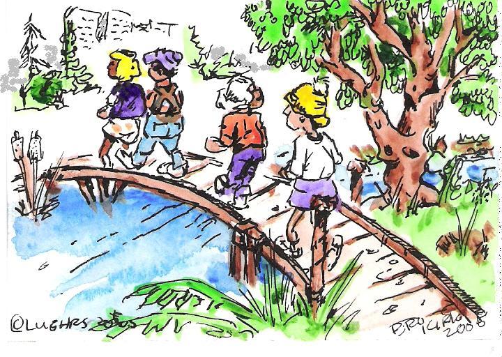 Vivid classes facts with. Bridge clipart tree