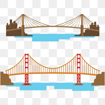 Png psd and with. Bridge clipart vector