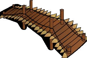 Wooden clip art at. Bridge clipart wood bridge