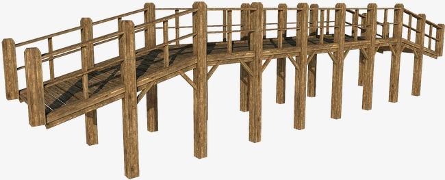Wooden deck png image. Bridge clipart wood bridge