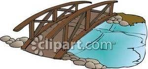 Clip art over water. Bridge clipart wood bridge