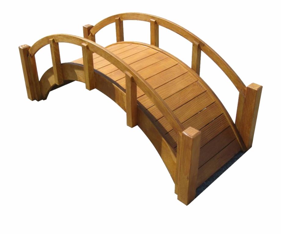 Bridge clipart wood bridge. Transparent background
