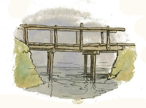 Bridge clipart wooden bridge. File clip art drawing