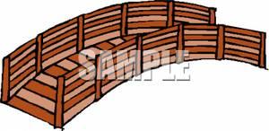 A . Bridge clipart wooden bridge