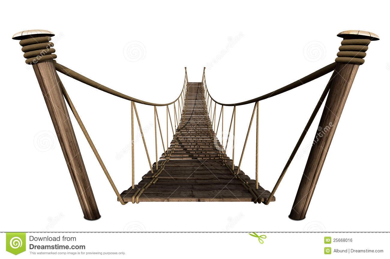 Rope . Bridge clipart wooden bridge