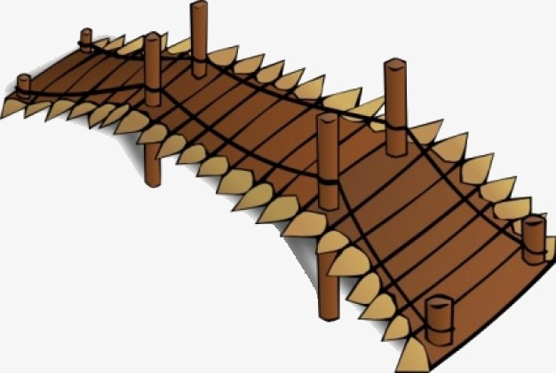 Bridge clipart wooden bridge. Building png image and