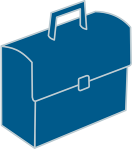 Blue clip art at. Briefcase clipart