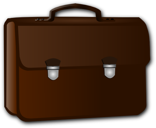 Free business cliparts download. Briefcase clipart