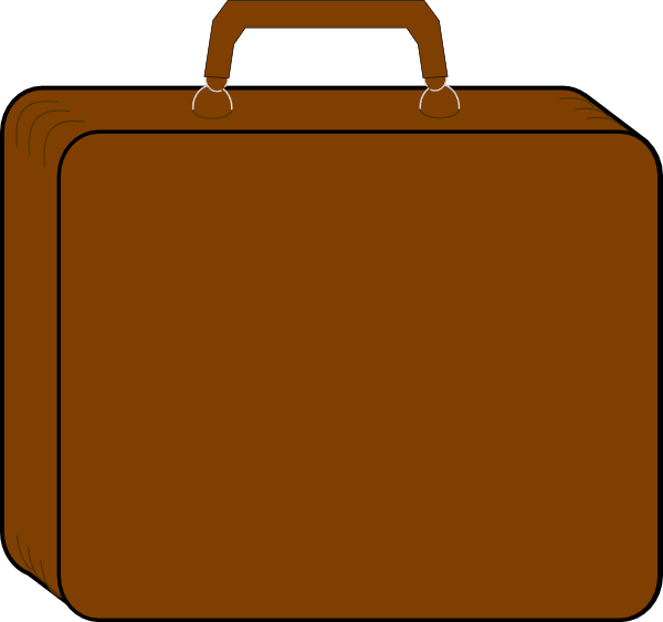 Colorless clip art at. Luggage clipart brown suitcase