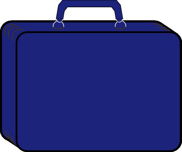 Blue Suitcase Clip Art at Clker.com - vector clip art online ...