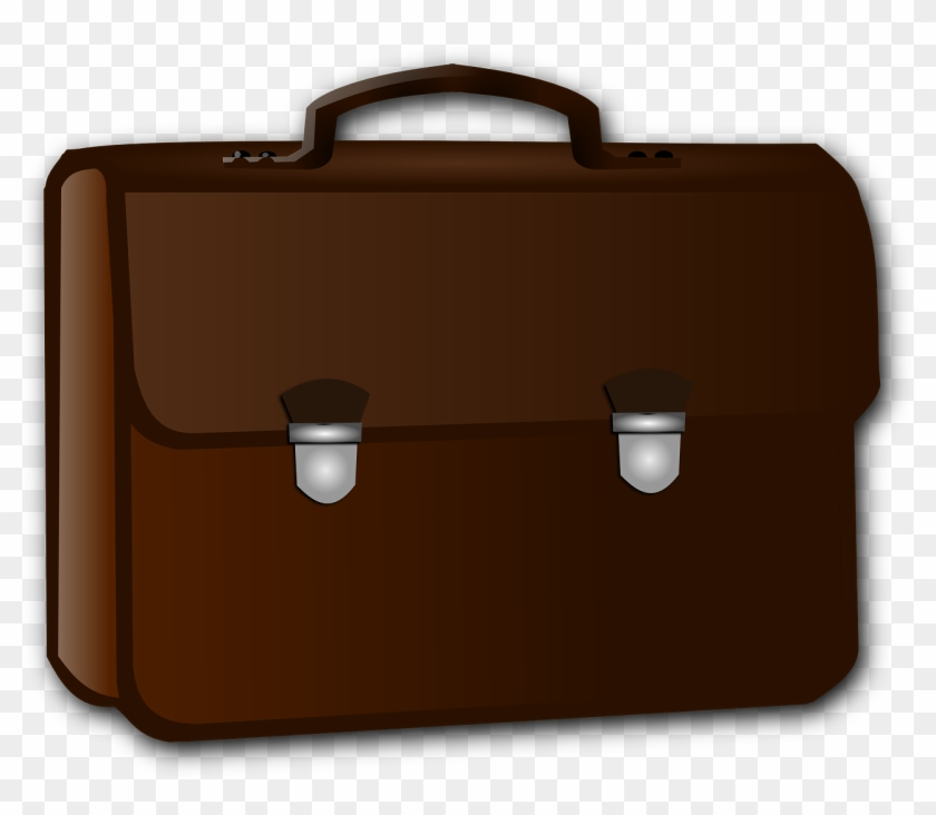 Briefcase brown png image. Luggage clipart business