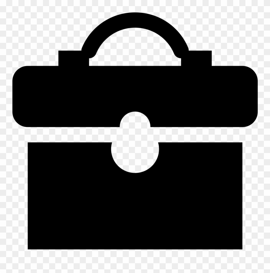 Business clipart briefcase. Simpleicons black jpg movie