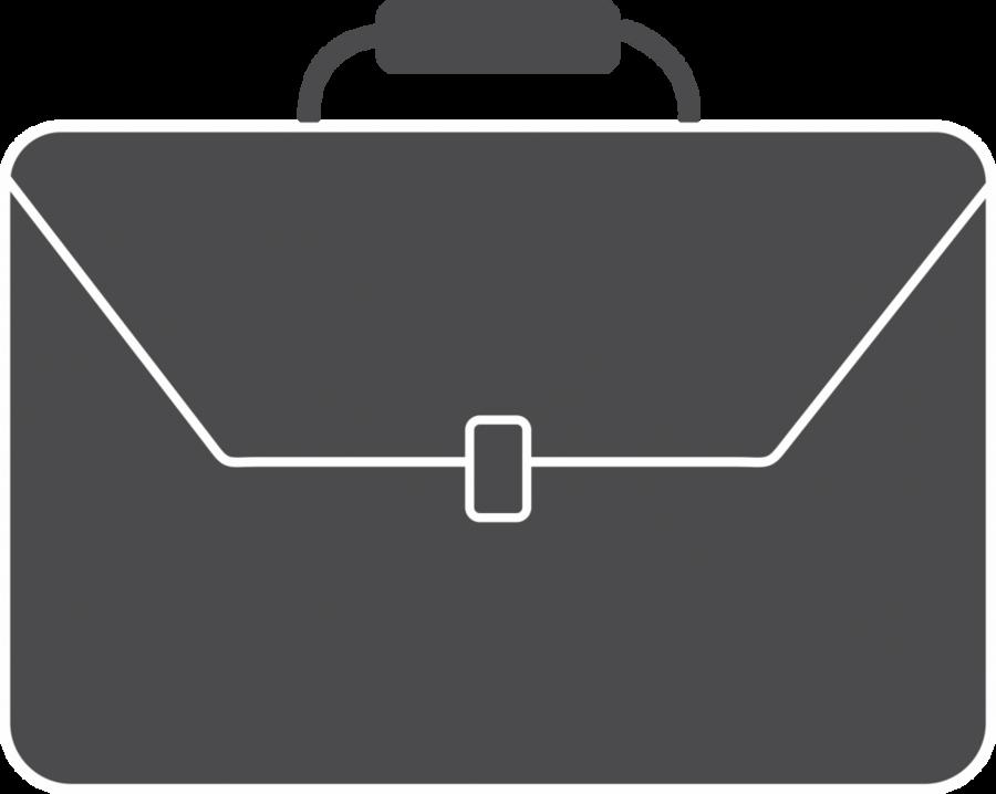 Background bag black . Business clipart briefcase