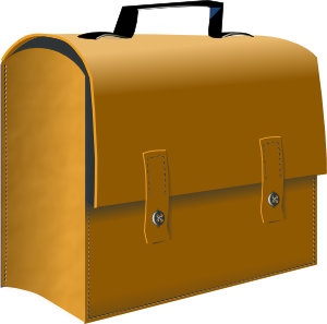 Briefcase clipart business. Leather suitcase clip art