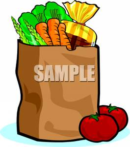 A colorful of shopping. Briefcase clipart cartoon
