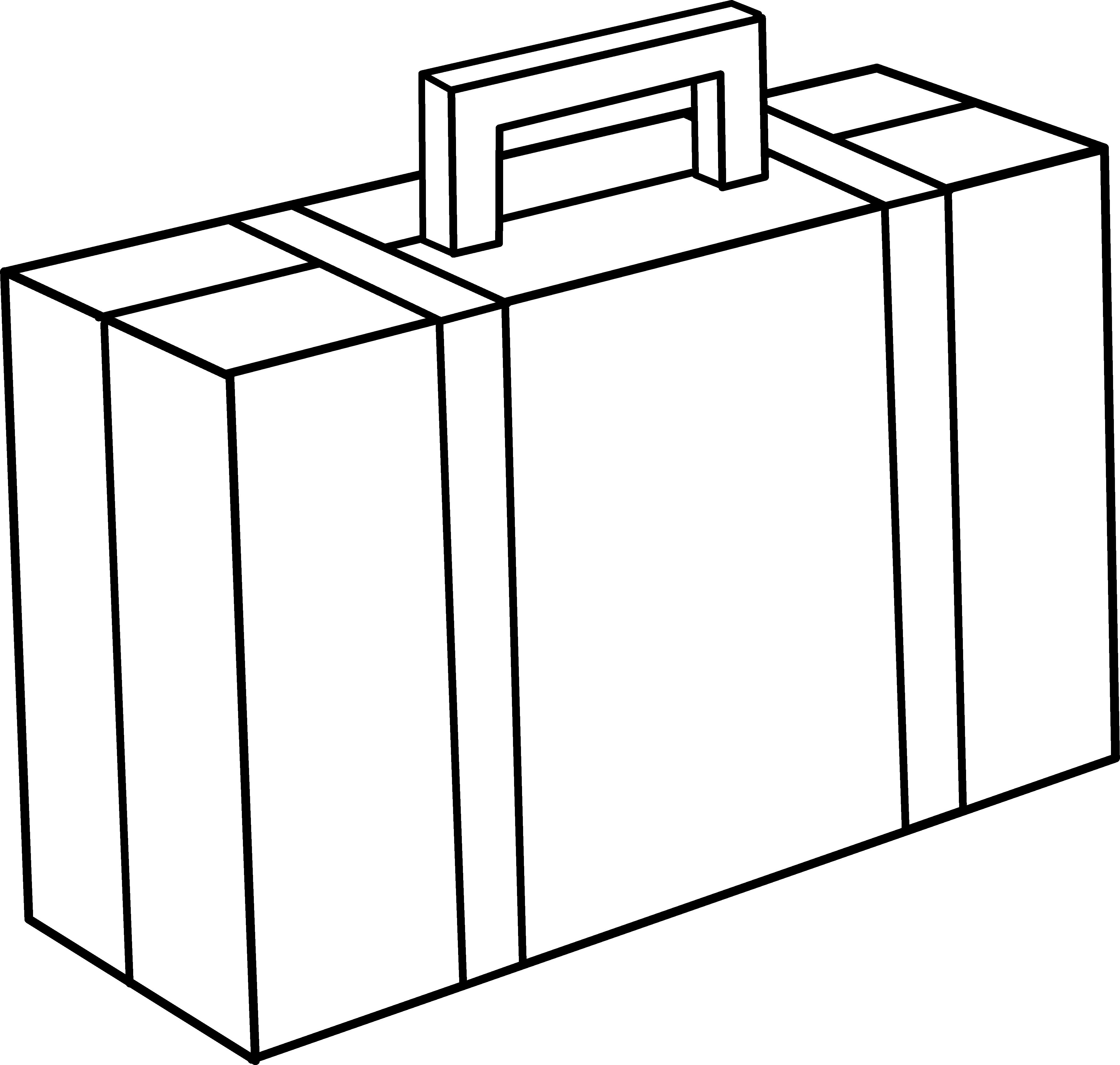 Briefcase line art free. Gate clipart metallic
