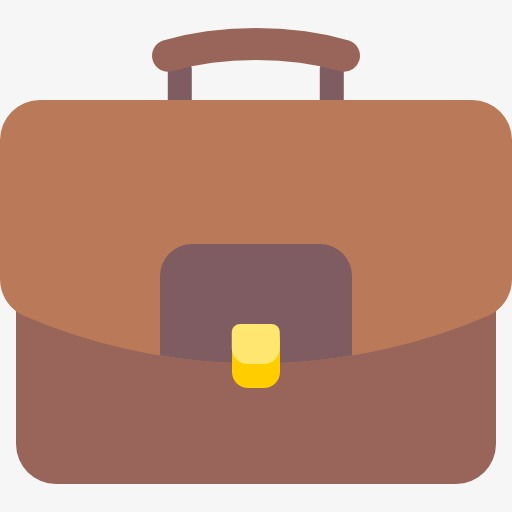 Business clipart briefcase. Cartoon bags png image