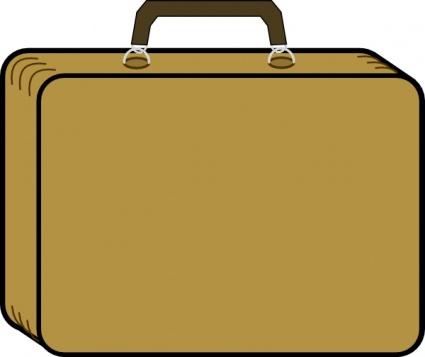 Briefcase clipart cartoon. Outline transportation little tan