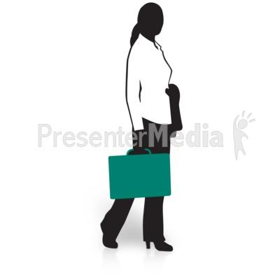 Businesswoman silhouette presentation great. Briefcase clipart corporate woman