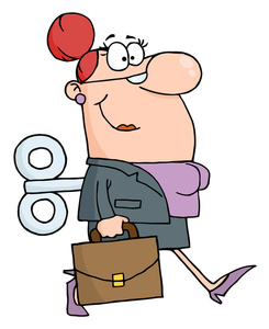 Free wind up image. Briefcase clipart corporate woman