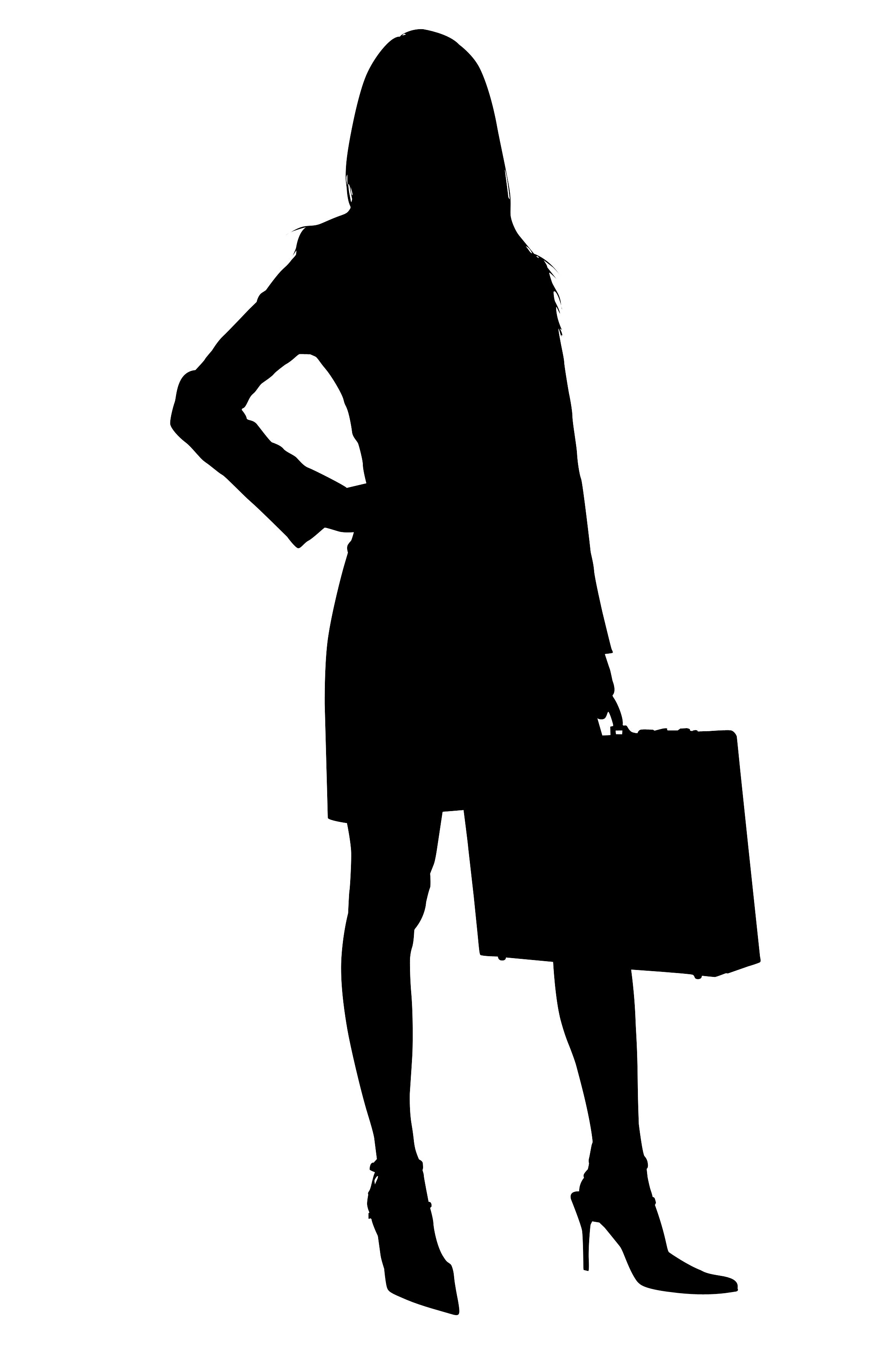 Businesswoman clipart black female lawyer. Silhouette with clipping path