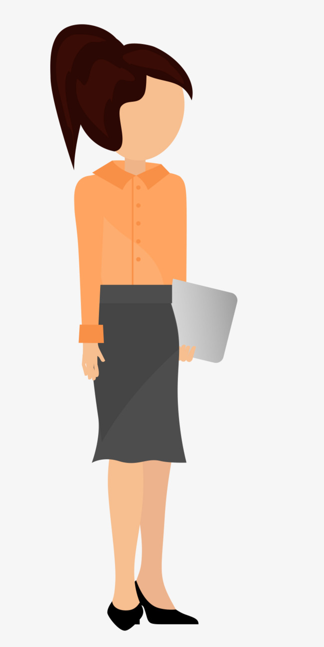 Briefcase clipart corporate woman. Holding the file of