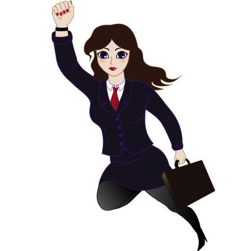 Cute active business woman. Businesswoman clipart famous