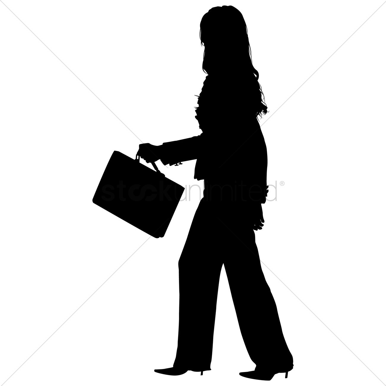 Briefcase clipart corporate woman. Silhouette business at getdrawings